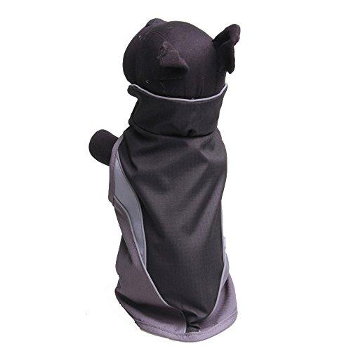 WELCOMEUNI Waterproof Dog Outdoor Reflective Jacket Coats Comfy Vest Pet Apparels Windbreaker Clothes Black