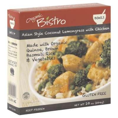 Organic Bistro Bowl organic chicken coconut Lemongrass 10 Oz (Pack of (Lemongrass Chicken)