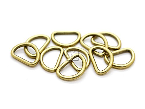 BronaGrand 120 Pieces 1//2inch Metal D Ring Buckles D-Ring Loop for Handbag Purse Clothes DIY Accessories,3 Colors