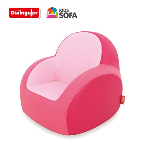 Dwinguler Kids Sofa, Cherry Pink