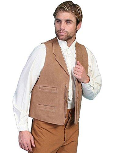Wahmaker By Scully Men's Wahmaker Leather Range Vest Brown Small