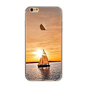 Boat Sunset Silicone Soft Rubber Ultra Thin TPU Back Cover Case For IPhone 7 4.7 Inch
