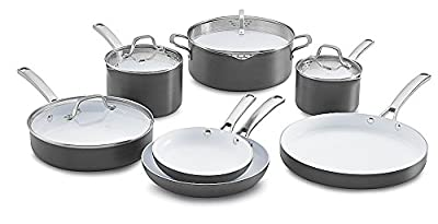 Calphalon 1937306 11 Piece Classic Ceramic Nonstick Cookware Set