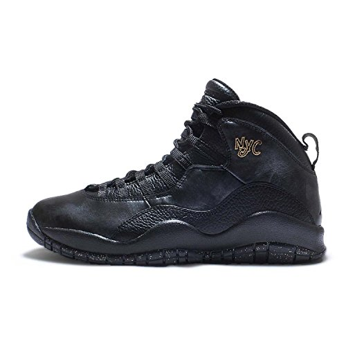 Nike Air Jordan Retro 10, Scarpe da Basket Uomo black/black-drk grey-mtllc gld