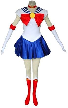 CTMWEB Sailor Moon Cosplay Costume - Tsukino Usagi 1st Ver Set Small