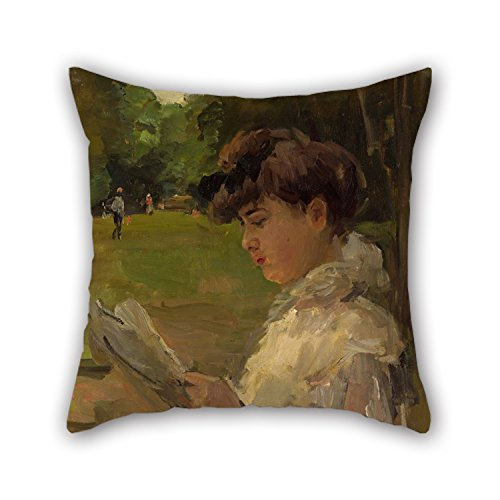 eyeselect Oil Painting Isaac ISRA?ls - Girl Reading Cushion Covers 18 X 18 Inches / 45 by 45 cm Gift Or Decor for Wedding Husband Study Room Kids Pub Kids Room - Both Sides for Christmas ()