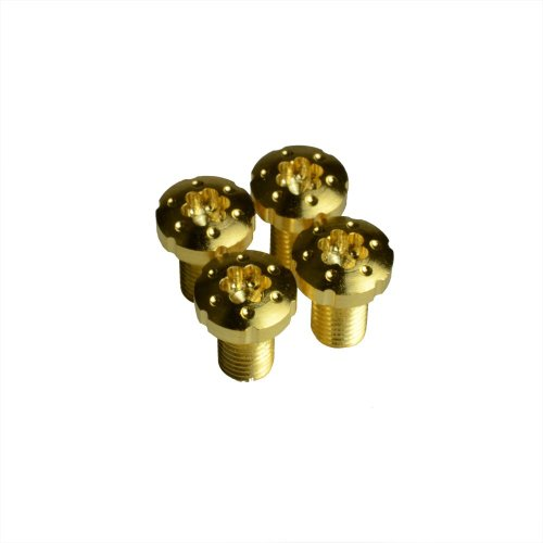 1911 Torx Grip Screws with True 24k Gold Coating x4 (Gold Soft Bushings)