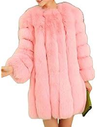 Amazon.com: Pink - Fur & Faux Fur / Coats, Jackets & Vests ...