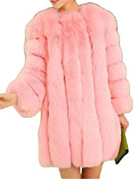Amazon.com: Pink - Fur &amp Faux Fur / Coats Jackets &amp Vests