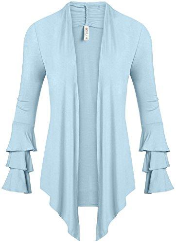 Light Blue Cardigan Sweater - 6