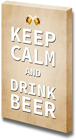 Keep Calm and Drink Beer Wall Decor Stretched