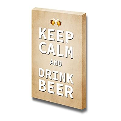 Majestic Piece, Keep Calm and Drink Beer Wall Decor Stretched, With Expert Quality