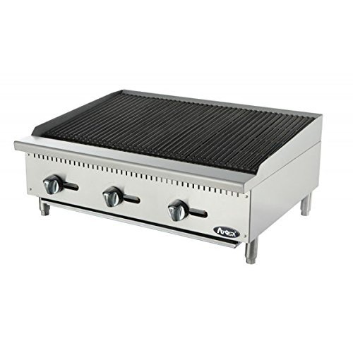 Atosa USA ATCB-36 Heavy Duty Stainless Steel 36-Inch Char-Rock Broiler - Propane by Atosa USA
