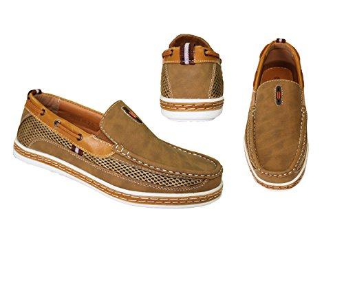 Frenchic Samlingar Mens Slip-on Loafers Tan