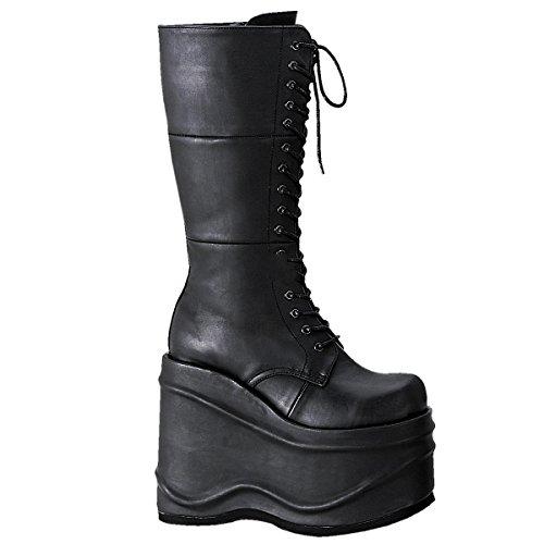 Demonia Wave-302 - gothique punk plateau bottes chaussures femmes 36-43