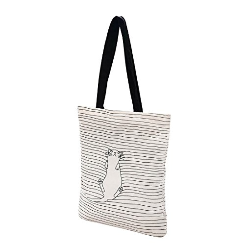(Cotton Canvas Tote Bag with Inner Pocket Adorable Large Tote Bag for Beach,Shipping,Groceries,Books)