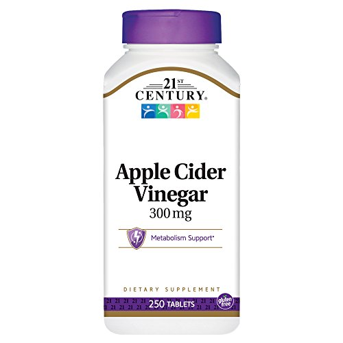 21st Century Apple Cider Vinegar 300mg Tablets, 250 Count (Pack of 2)