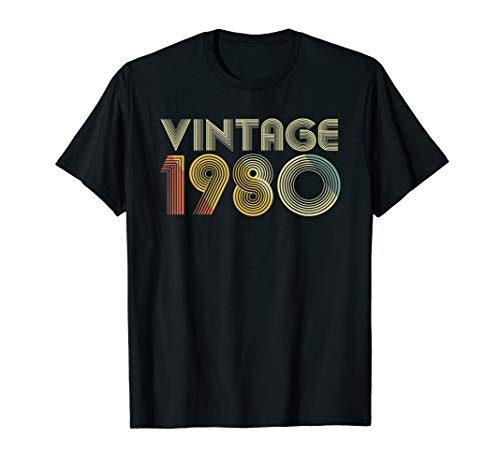 39th Birthday Gift Vintage 1980 T-Shirt Classic Men Women