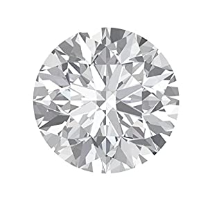 Arya's C Round Cut Loose Real Moissanite, Use for Pendant/Ring Genuine Near White Color, 1ct to 3ct, Near White…
