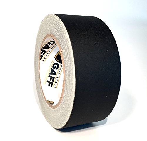 Gaffers Tape - 2 inch by 30 Yard Roll - Black - Main Stage Gaff Tape - Easy to Tear, Matte Non-Reflective Finish