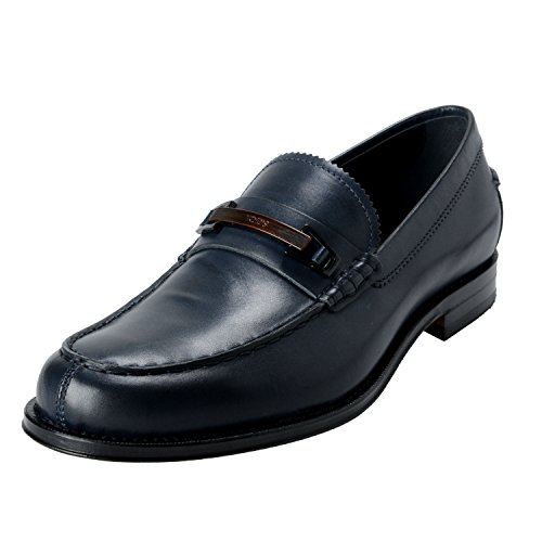 Tods Morset Leather Shoes Blue Loafers Penny Mens pR7x1pqv