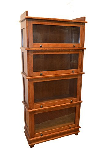 Crafters and Weavers Mission 4 Stack Barrister Bookcase Made of Solid Oak