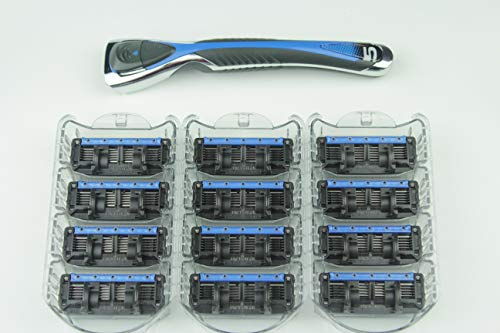 Personna Men's 5 Blade Razor System - Mens Shaving Razors - Razor Handle with 12 Replacement Cartridges (Persona 4 Best Fusions)