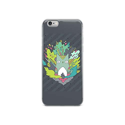 iPhone 6/6s Case Anti-Scratch Creature Animal Transparent Cases Cover Abstract Cute Owl Animals Fauna Crystal Clear