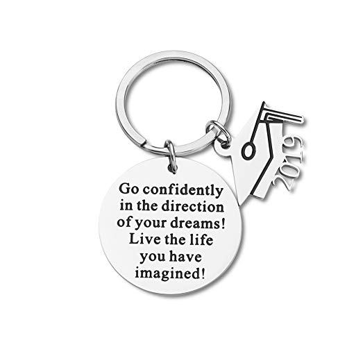 2019 Graduation Gifts for high School College Graduates Keychain Him Her Graduation Masters Nurses Students from College Medical Inspirational Gifts for Women Men Girls Daughter Son Graduates