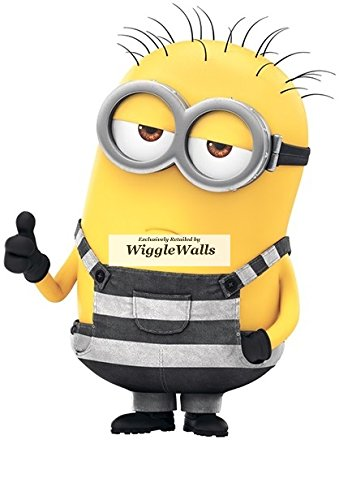 5 Inch Phil Minion Despicable Me 3 Wall Decal Sticker Minions Removable Peel Self Stick Adhesive Vinyl Decorative Art Kids Room Home Decor Children 4 by 5 Inch