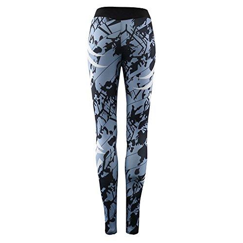 de femme pour de formation Vtements Gris Leggings de hibote Set mode Ensemble de Hauts Sport Pantalon Survtement de Sport lasticit Haute Impression w8a5qw