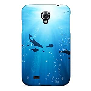 Defender Case For Galaxy S4, Life Under The Ocean Pattern