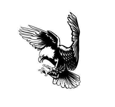 Bald Eagle Sticker - Eagle freedom Vinyl Decal Sticker Bald Bird USA United States (Black)