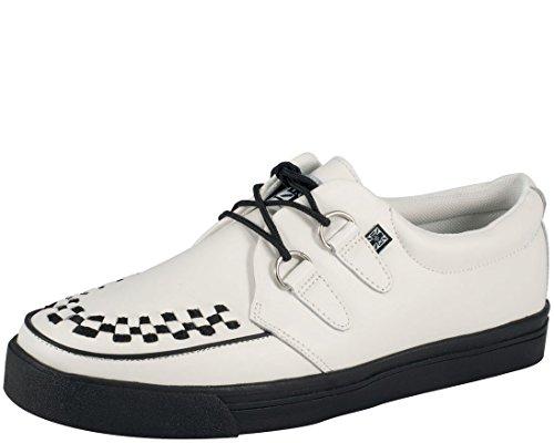 T.U.K. Unisex Creeper Sneaker,White,Men's 6 M/Women's 8 M (Skateboard White Shoe Skull)