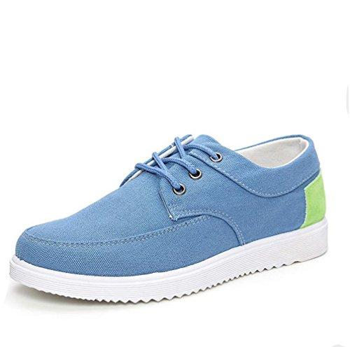 Ein bißchen Herren mode Fashion Herbst Früling Low-top Denim casual  Atmungsaktive Segeltuch Sneaker Hellblau