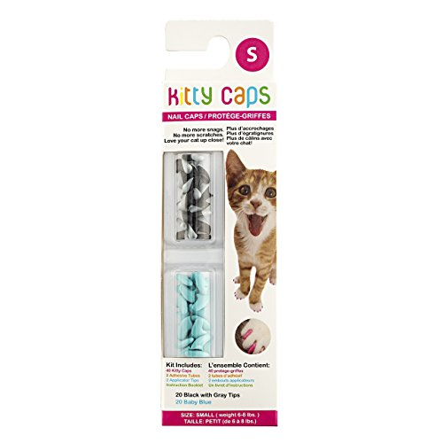Kitty Caps Kitty Caps Nail Caps For Cats   Safe   Stylish Alternative To Declawing   Stops Snags And Scratches  Medium  9 13 Lbs   Set 1  Torquoise And Grey Black  Set 2  Hot Pink And Hot Purple Set 3  White Pink And Pink Glitter