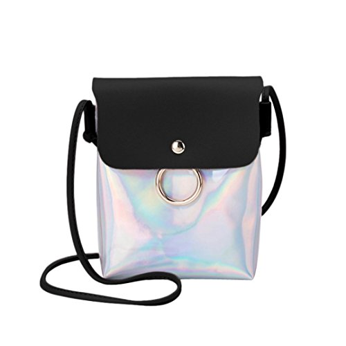 Handbags VEMOW Women Girl Anti Theft Messenger Vintage Strap Purse Tote Crossbody Bag Satchel Bags Purses Backpacks Shoulder Bags Clutches, Laser Cover Ring Hasp Coin Phone Bag Black