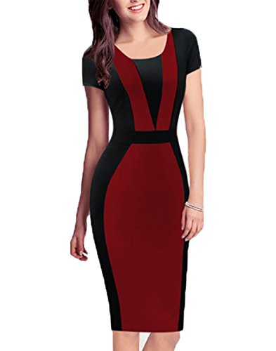 Women's Round Neck Business Party Bodycon Dress