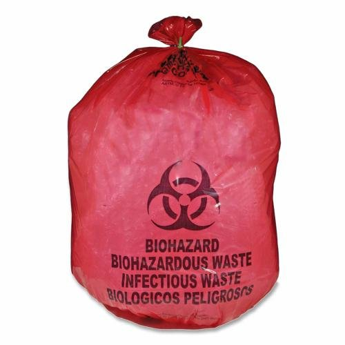 Biohazard Waste Bag,20-25 Gallon,31''x41'',50/BX,Red MHMMDRB142755 by MHMS