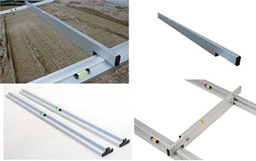 Abziehlehren Set: 2 x Grundschiene (Länge 2 m) + 1 x Abziehlehre (Länge 2 m)