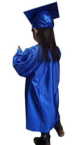 Grad Days Kindergarten Graduation Gown Cap Tassel 2018 Shiny Royal Blue (Preschool Graduation Gowns)