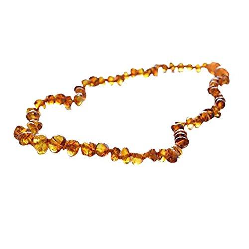 Baltic Amber Teething Necklace for Babies (Unisex) (Honey) - Anti Flammatory, Drooling & Teething Pain Reduce...
