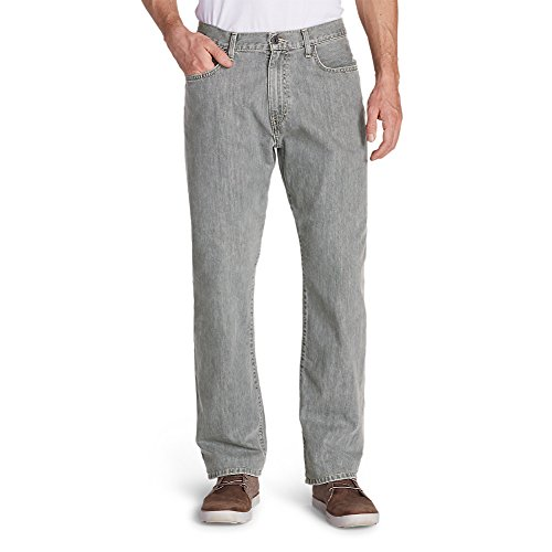 Eddie Bauer Men's Authentic Jeans - Relaxed Fit, Chrome 40/36 Tall