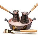 Tete-a-Tete 2 Cezve w/ Hearth & Sand Turkish Coffee Set