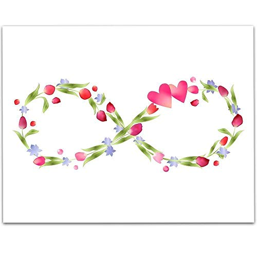 Flower Infinity Symbol - 11x14 Unframed Art Print - Great Home/Living Room Decor/Wedding Gift, Also Makes a Great Gift Under $15 ()