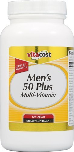 Tablets Plus Vitamin - Vitacost Men's 50 Plus Multi Vitamin -- 120 Tablets by Vitacost Brand