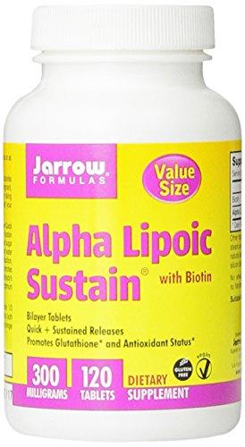 Jarrow Формулы Альфа-липоевая Sustain, 300 мг, 120 Граф