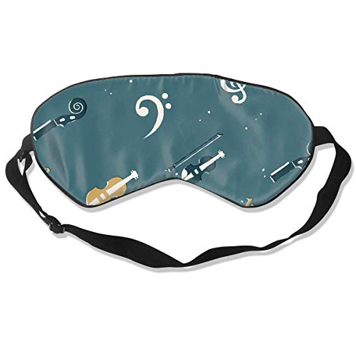 Oh-HiH 100% Silk Eye Mask Instruments Orchestra Sleeping Blindfold Blocks Light Eye Cover