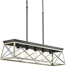 Progress Lighting P400048-143 Briarwood Five-Light Linear Chandelier, Graphite