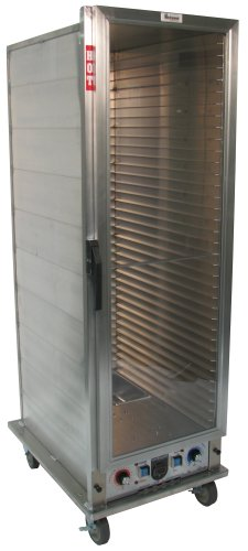 """Lockwood CA67-PF34-CD-R Aluminum Full Height Non-insulated Economy Proofing and Heating Cabinet with Clear Door, 34 Pan Capacity, 22-3/8"""" Width x 67-7/8"""" Height x 31-3/16"""" Depth"""